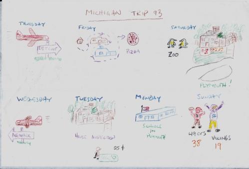 Michigan Trip 1993 Drawing 1